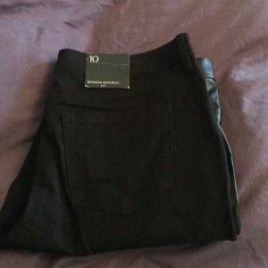 Banana Republic NWT faux leather front jeans!